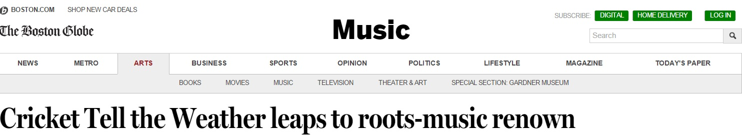 Boston Globe Headline